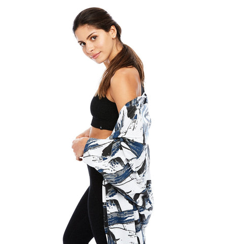 Cocoon Wrap in Gray Brush Print - Square One Source