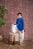 Blue Chikanakri Kurta For 1-4 Year's Old