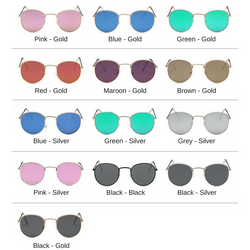 Shakespurr Metal Round Sunglasses - Shakespurr