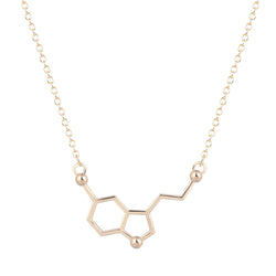Serotonin Molecule Necklace - Shakespurr