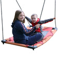 Rainbow Gliderz Chevron Swing with Two Riders Facing Each Other