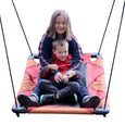 Rainbow Gliderz Chevron Swing with Two Riders Gliding