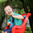 Sesame Street Elmo Toddler Swing Rider Laughing