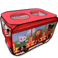 Daniel Tiger's Trolley Pop-up Tent left panel side view