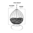 Children's Swoon Pod Hanging Chair Swing Height
