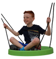 Air Riderz Saucer Swing Green with Boy Rider