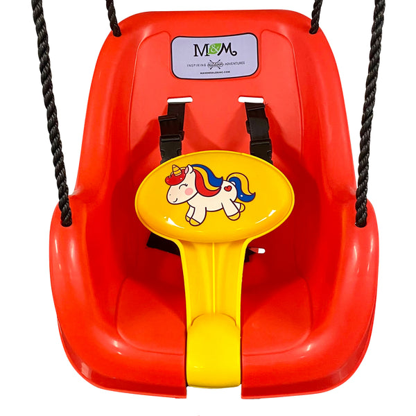 Unicorn Toddler Swing Bucket Front