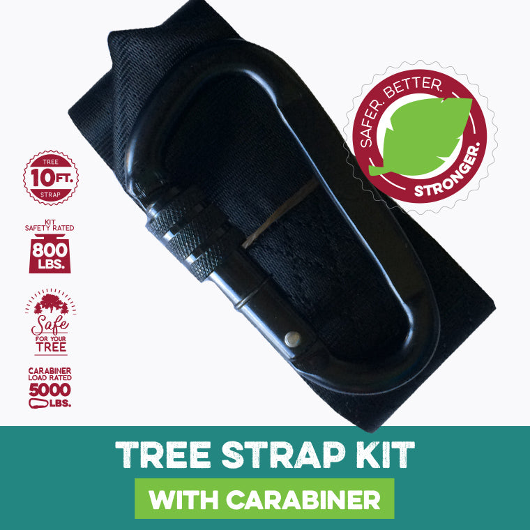 10 Foot Tree Strap with Carabiner Kit