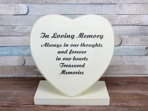 Loving memory Heart Graveside memorial plaque LP25337