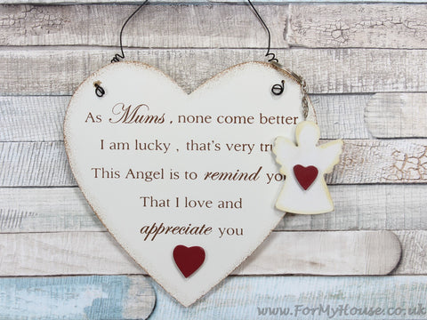 As Mums, none come better … heart plaque sign