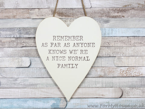 Normal family large heart plaque sign