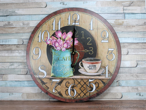 Cafe Large wall clock 46cm