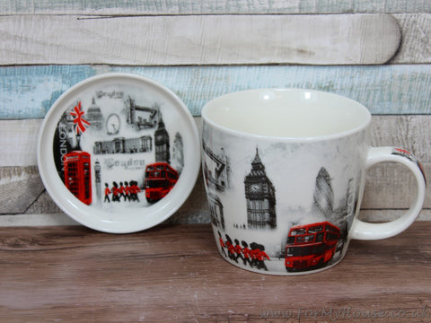 London mug and coaster set