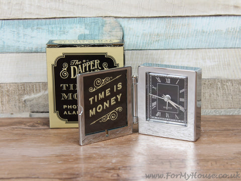 The dapper chap photo frame alarm clock