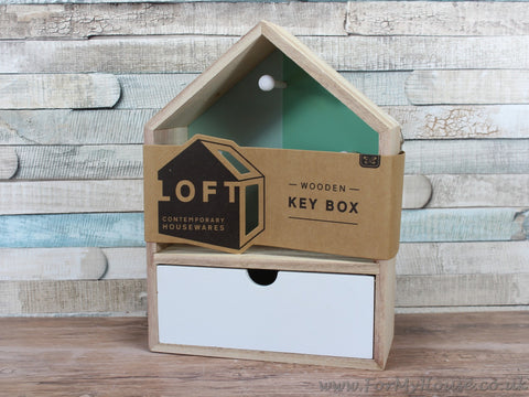 Loft house wooden key box