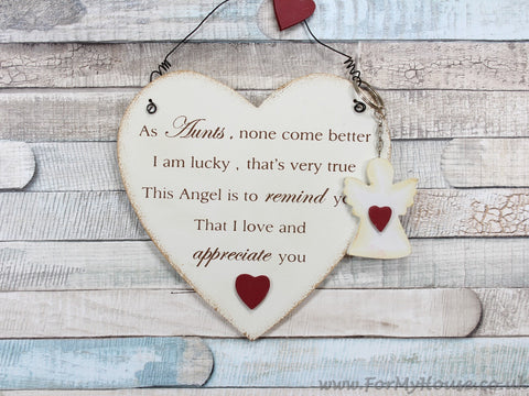 As Aunts, none come better … heart plaque sign