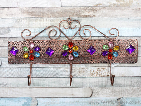 Metal jewels coat rack
