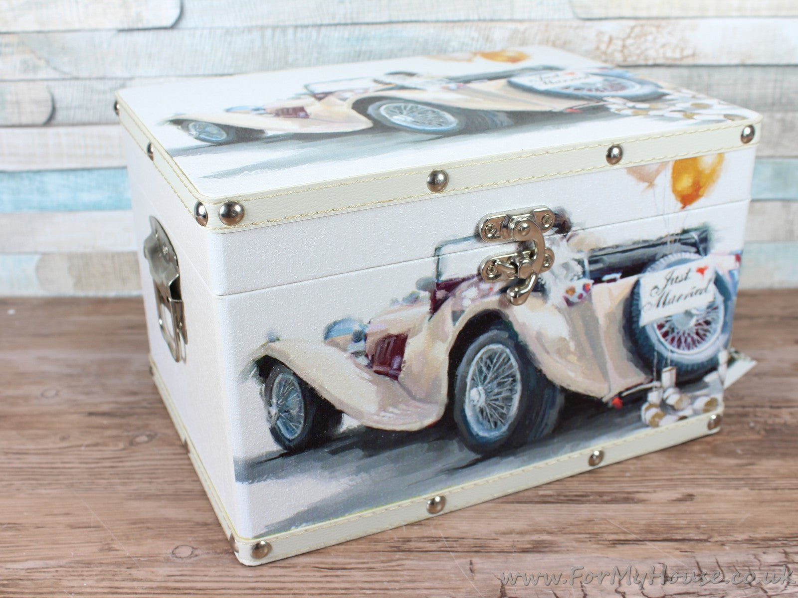 Just married vintage car wedding chest memory box | For My House