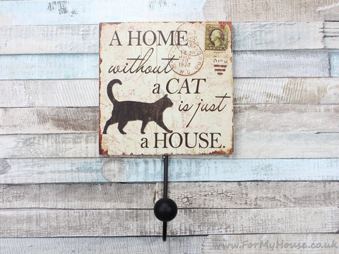 A home with a cat coat hook