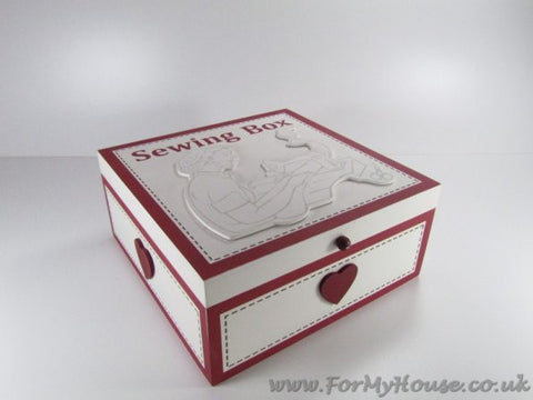 Large sewing box with 9 compartments