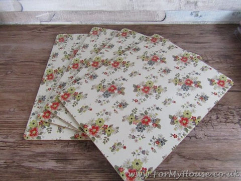 Summer daisy floral set of 4 placemats place mats