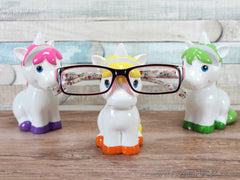 Unicorn nose glasses holder Pink yellow or green