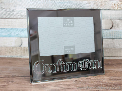 "4X6"" Confirmation Mirrored Photo Frame"