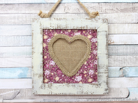 "4X4"" Ditsy Floral White Rustic Wood Floral Background Picture Frame"