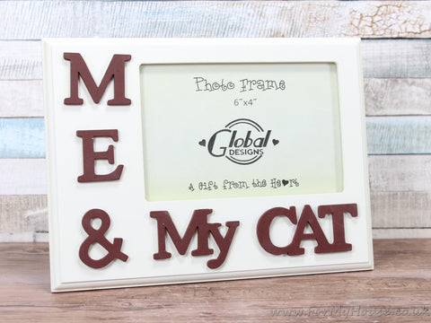 "4X6"" Cream Me And My Cat Photo Frame"