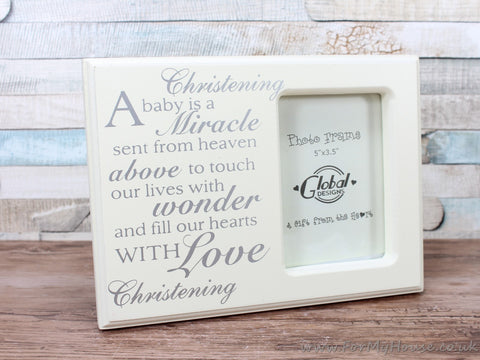 "3.5X5"" Christening A Baby Is A Miracle... Photo Frame"