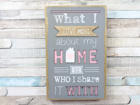 What I love most about Home Box Plaque Sign