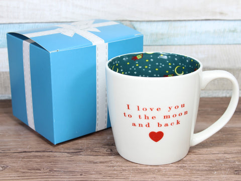 I Love You To The Moon & Back - Inside Out Mug Gift Boxed