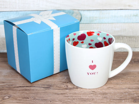 I Love Heart You  - Inside Out Mug Gift Boxed
