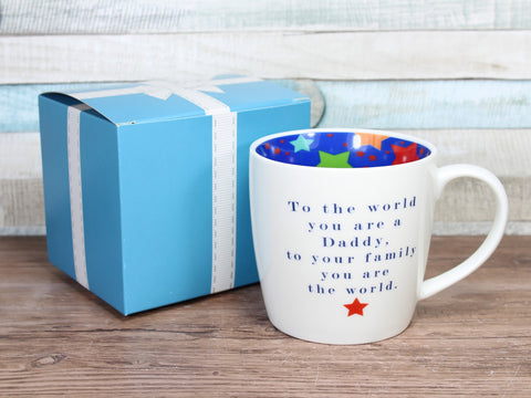 To The World You Are A Daddy - Inside Out Mug Gift Boxed