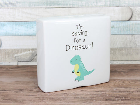 I'm Saving For Dinosaur Ceramic Money Box