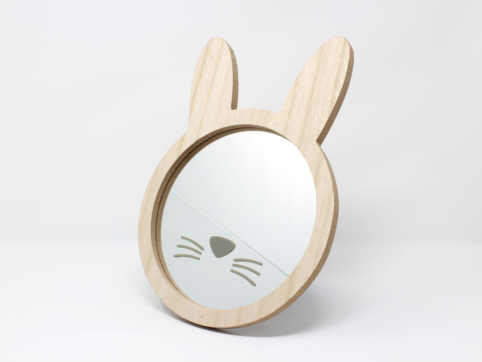 Wooden bunny rabbit face childrens wall mirror for my house wooden bunny rabbit face childrens wall mirror amipublicfo Choice Image