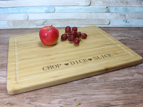 Chop Dice Slice Large Wooden Chopping Board