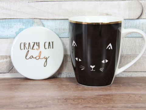 Crazy Cat Lady Mug & Coaster Set
