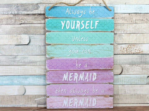 Mermaid Ombre Plaque Sign