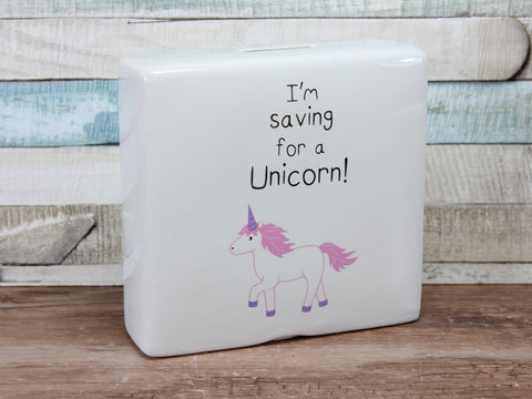 Large Ceramic I'm Saving For A Unicorn Money Box