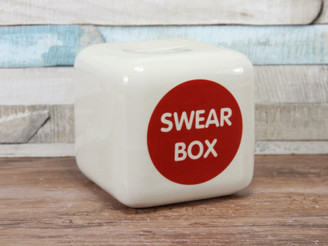 Ceramic Swear Box With Scale of Charges Money Box