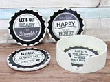 Ceramic Beer Cap Coaster Set of 4