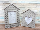 Juliet Grey Hearts Wooden Photo Frame Choice 2