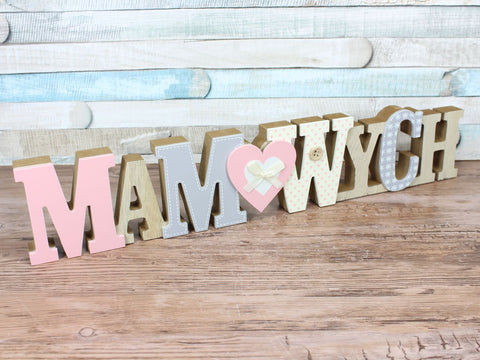 Mam Wych 3D Decorated Welsh Wooden Plaque