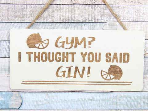 Rustic Gin Sign Choice Of 3