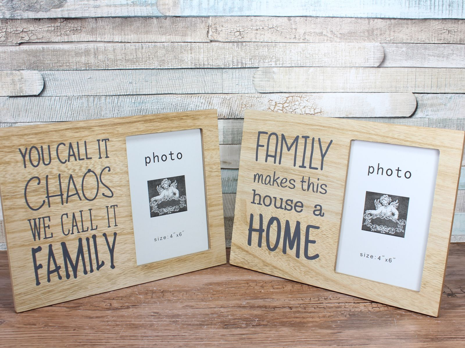 Family Saying 6x4 Photo Frame Choice Of 2 For My House