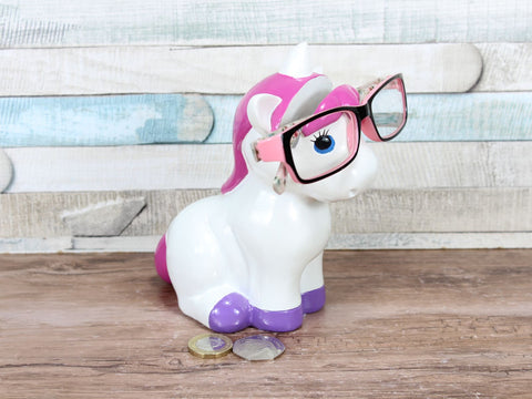 Pink Unicorn Money Box & Glasses Holder