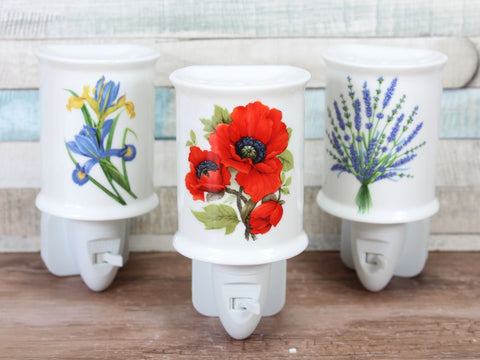 Floral Plug In Ceramic Night Light Choice of 3 designs