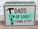 No 1 Dad's Tin Of Tools Metal Storage Box