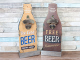 Wooden Beer Bottle Opener Choice of 2